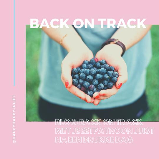 Back on track met je eetpatroon